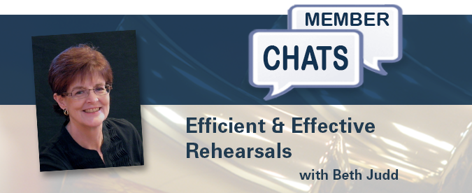Beth Judd – Efficient and Effective Rehearsals